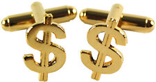 Dollar Sign Mens Cufflinks Wedding Party Suit Gift Money Husband Man Him
