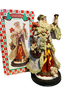 "Holiday Collection Father Christmas 13"" Figurine  Rare Collectible"