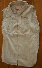 KAPORAL Très jolie chemise sans manche beige Taille M - EXCELLENT ÉTAT