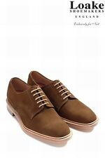 Loake Tan Derby Suede Shoes size 10 usually £175