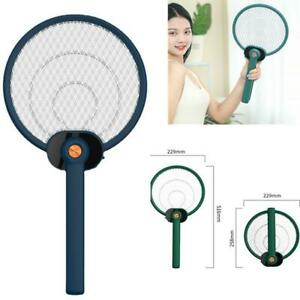 Electric Mosquito Fly Swatter Rechargeable  Zapper Racket  for Outdoor Indoor