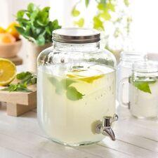 Getränkespender mit Zapfhahn  Zapfsäule Dispenser aus Glas 4  L