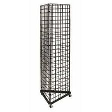 "New Black 3-Sided Gridwall Rack + (60) 4"" hooks"