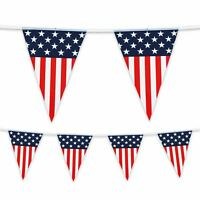 6 Metre Plastic Bunting USA America Independence Day Banner Garland