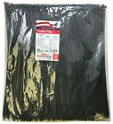 """500 Black 14"""" Inch Nylon Cable Wire Wrap Zip Ties 50 LBS UV Resistant - USA"""