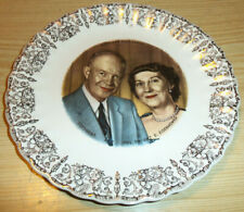 Vintage President & Mrs Dwight D Eisenhower Collector Plate 9 1/4 inch - Nice