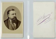 Sarony's, New York Portrait d'un homme CDV vintage albumen carte de vi