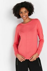 Wallis Womens Pink Studded Shoulder Jumper Knitwear Sweater Pullover Top