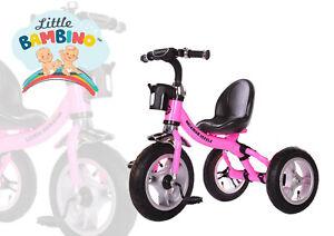 3 Wheeler Kids Tricycle   Rubber Air Filled Wheels  Steel Frame Trike Ride On