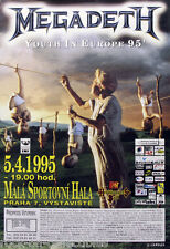 Megadeth 1995 European Youthanasia Tour Czech Republic Original Concert Poster