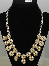 Kenneth Cole New York Two Tone METAL SPHERES 1/2 Ball Collar Necklace $68