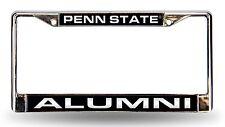 Penn State Nittany Lions ALUMNI Laser Frame Chrome License Plate Tag University