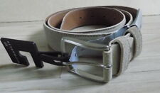 MICHAELIS Beautiful Genuine Leather Belt  Light gray color Italy