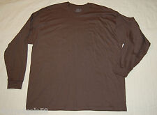 MENS Long Sleeve knit Tee Shirt Grayish Brown Fruit of the Loom 2XL 50-52
