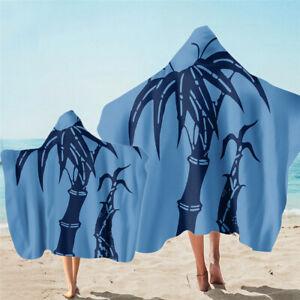 Bamboo Flower Tree Adult Kids Hooded Beach Towel Pool Swim Surf Spa Holiday Gift