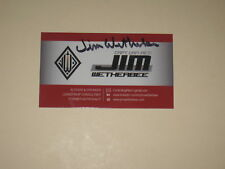 NASA Astronaut JIM WETHERBEE Signed Business Card AUTOGRAPH
