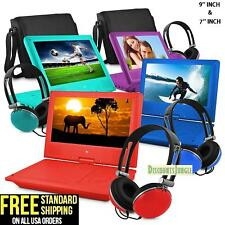"""7""""&9'' Portable Personal DVD Player w/Headphones Kids Adult Ematic EPD707 EPD909"""