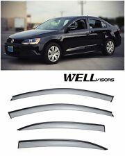 For 11-UP Volkwagen Jetta Sedan WellVisors Side Window Visors W/ Black Trim