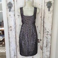 Michael Kors Size 8 Medium Woman's Silver Gray Metallic Brown Sleeveless Dress
