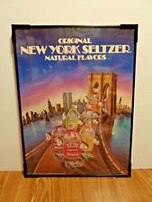 VERY RARE, Original New York Seltzer  -FRAMED SIGN 1986, 18 3/4'' X 13 7/8''
