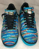 Puma California Coogi Multi Men's Shoes Blue Atoll/Puma Black 367973-01 Size 9