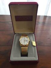 Vintage Mens Jules Jurgensen Gold Tone Watch w/ Time & Date - Original Box