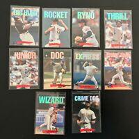 1993 Triple Play Nicknames Compete 10 Card Set Nolan Ryan Griffey +