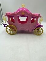Disney Mattel Sleeping Beauty Pink Princess Carriage Toy W5929 2011 Collectable