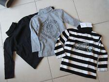 Lot de 3 T shirts col roulés NEUFS Vertbaudet.  taille 2 ans