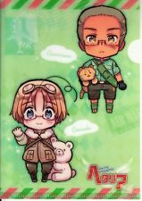 Hetalia Axis Powers Folder Mini Clear File Collection # 2 Canada China Cuba