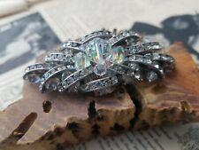 Century vintage brooch multi dim Articulated Austrian crystal and rhinestone Mid