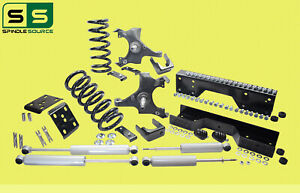 "1988 - 1998 Chevy GMC C1500 4"" F 6"" rear Drop Lowering Kit 4/6 + SHOCKS + NOTCH"