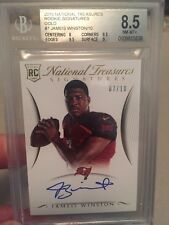Jameis Winston 2015 National Treasures Rookie #7/10 BGS 8.5 2 9.5 Subs Auto 10