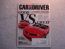 Car and Driver 2011 August Porsche Camaro vs Mustang Fiat 500 Saab 9 Dodge