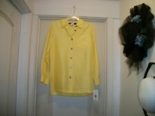 PRETTY YUMMY IN LEMON YELLOW NEW LADIES SHIRT BLOUSE W DARK BUTTONS 10