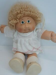 1983 Cabbage Patch Kid Doll Girl Green eye Blonde Hair Black Sig (OK) Coleco CPK