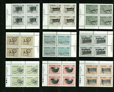 Canada - 1982-1987 - All 9 Definitives - Plate Blocks - MNH - Unitrade 60$