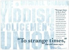 The Yiddish Policemen's Union: Letterpress Broadside - Signed by Michael Chabon