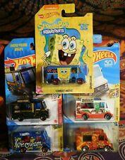 5 Hot Wheels 4 ICE CREAM '04, '18, '20 & '21 + Walmart Ex SpongeBob COMBAT MEDIC