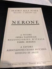 teatro alla scala NERONE 1924