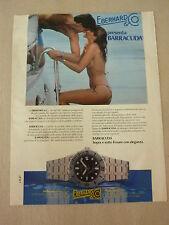 ADVERTISING PUBBLICITA' orologi EBERHARD presenta BARRACUDA  -- 1982