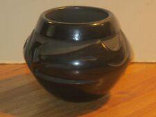 Glenda Naranjo Santa Clara Black On Black Pottery With Avanyu, Signed