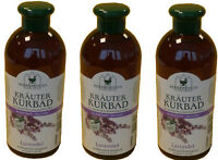 Kräuterbad Lavendel 3x 500ml Badezusatz Wellness Entspannung Schaumbad