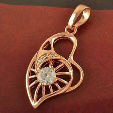 HOT SALE Peach heart Pendant 9K Rose Gold Filled With Cubic Zirconia,F1763