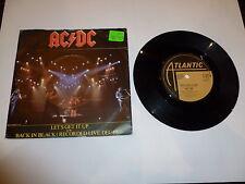 """AC/DC-Let 's Get It Up - 1982 Reino Unido 7"""" SINGLE VINILO"""