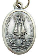 """MRT La Virgen de la Caridad del Cobre Cuba Medal Silver Plate Gift 3/4"""" Italy"""