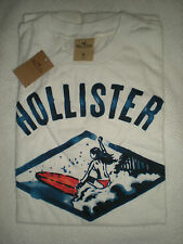 NWT HOLLISTER SOFT WHITE EMERALD COVE TEE SHIRT SURFING TEAM BETTY SURFING MED