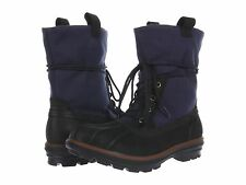Cole Haan AIR SCOUT Waterproof Hiking Winter Boots Mens 10.5 Black Navy NEW