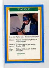 (Jm869-100) RARE,Q.O.S Who Am I ,John Barnes ,Soccer 1994 MINT