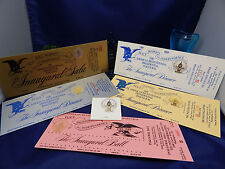 1989 INAUGURATION 5 COMPLETE UNUSED TICKETS TO PRESIDENTIAL BALL-GALA-DINNERS